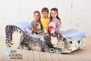 Фабричные кровать-машинки с ортопедическими латами