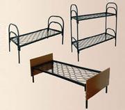 Металлические кровати с ДСП спинками для пансионатов,  дешево